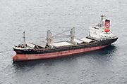 Freighter at anchor in Carlisle Bay, Barbados