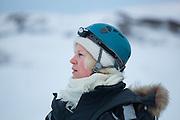UNIS student Kathrine Tellebon on a class field trip to Tellbreen, Svalbard.