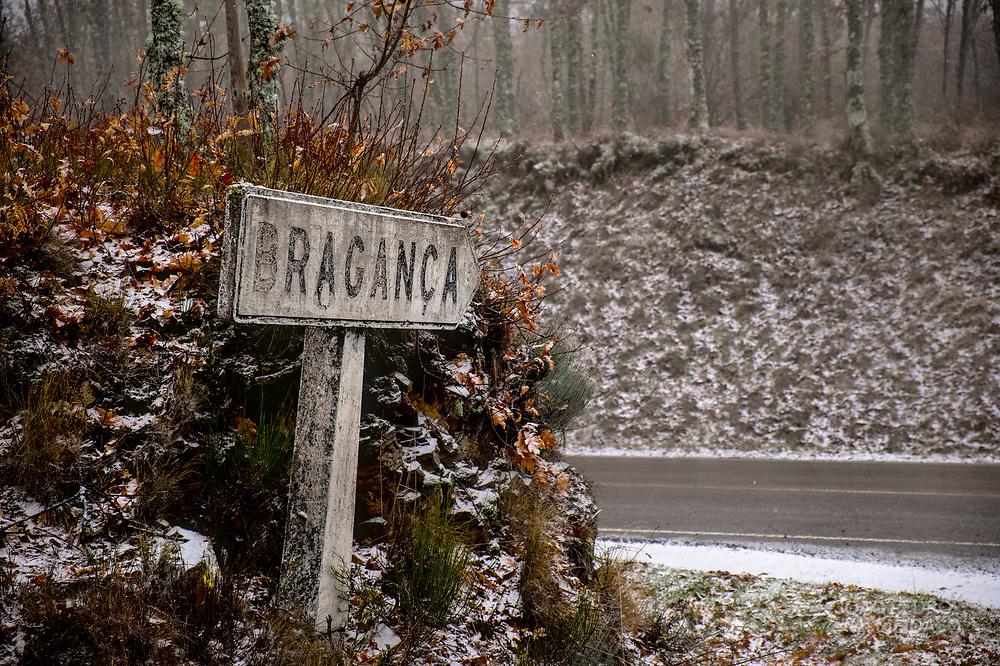 Winter scenery in Portugal's Trás-Os-Montes region, outside Bragança.