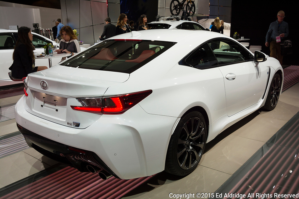 DETROIT, MI, USA - JANUARY 12, 2015: Lexus RC 350 F on display during the 2015 Detroit International Auto Show at the COBO Center in downtown Detroit.