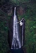 Helicopter, Manawainui Falls, Kauai, Hawaii<br />