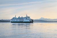 San Juan Islands Ferry  in Guemes Channel Anacortes Washington