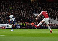 Football - 2018 / 2019 EFL Carabao Cup (League Cup) - Quarter-Final: Arsenal vs. Tottenham Hotspur<br /> <br /> Henrikh Mkhitaryan (Arsenal FC) fires at the Tottenham goal at The Emirates.<br /> <br /> COLORSPORT/DANIEL BEARHAM
