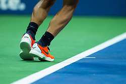 August 28, 2018 - Flushing Meadow, NY, U.S. - FLUSHING MEADOW, NY - AUGUST 27: RAFAEL NADAL (ESP) day one of the 2018 US Open on August 27, 2018 at Billie Jean King National Tennis Center in Flushing Meadow NY (Photo by Chaz Niell/Icon Sportswire) (Credit Image: © Chaz Niell/Icon SMI via ZUMA Press)