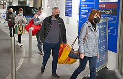 © Licensed to London News Pictures 01/11/2020  <br /> Orpington, UK. Shoppers queuing outside a Tesco superstore in Orpington, South East London before 9am this morning to stock up on milk, loo roll and other essential items before Thursdays second Coronavirus lockdown. Photo credit:Grant Falvey/LNP