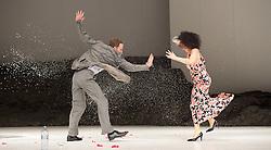 Tanztheater Wuppertal Pina Bausch <br /> 'Masurca Fogo' <br /> at Sadler's Wells, London, Great Britain <br /> rehearsals<br /> 8th February 2017 <br /> <br /> Tanztheater Wuppertal Pina Bausch: Masurca Fogo<br /> Julian Stierle , Ophelia Young<br /> Masurca Fogo, created by the endlessly inventive Pina Bausch, returns to Sadler's Wells from 9 - 12 February 2017. The piece is performed by the legendary Tanztheater Wuppertal Pina Bausch, a Sadler's Wells International Associate Company.<br /> <br /> <br /> <br /> <br /> Performers:<br /> Regina Advento, Pablo Aran Gimeno, Emma Barrowman, Rainer Behr, Andrey Berezin, Michael Carter, Çağdaş Ermis, Silvia Farias Heredia, Jonathan Fredrickson, Ditta Miranda Jasjfi, Daphnis Kokkinos, Cristiana Morganti, Breanna O'Mara, Nazareth Panadero, Julie Shanahan, Oleg Stepanov, Julian Stierle, Fernando Suels Mendoza, Aida Vainieri, Ophelia Young.<br /> <br /> Photograph by Elliott Franks <br /> Image licensed to Elliott Franks Photography Services