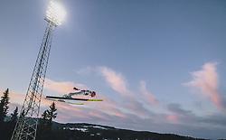 11.03.2020, Granasen, Trondheim, NOR, FIS Weltcup Skisprung, Raw Air, Trondheim, Herren, im Bild Daniel Huber (AUT) // Daniel Huber of Austria during men's 3rd Stage of the Raw Air Series of FIS Ski Jumping World Cup at the Granasen in Trondheim, Norway on 2020/03/11. EXPA Pictures © 2020, PhotoCredit: EXPA/ JFK