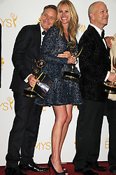 Aug. 25, 2014 - Los Angeles, California, USA - Aug 25, 2014 - Los Angeles, California, USA - Actor RYAN MURPHY, Actress JULIA ROBERTS   at the 66th PrimeTime Emmys Awards  held at the Nokia Theater. (Credit Image: © Paul Fenton/ZUMA Wire)