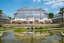 Glasshouse at Berlin Botanical Garden in Dahlem, Berlin, Germany