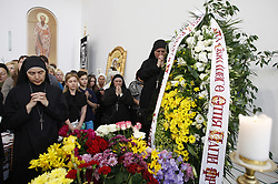 June 5, 2017 - Kiev, Ukraine - Greek Catholic believers attend the funeral ceremony of Ukrainian Cardinal Lubomyr Husar, ex-head of Ukrainian Greek Catholic Church, at Patriarchal Cathedral of the Resurrection of Christ in Kiev, Ukraine, 05 June, 2017. Lubomyr Husar, 84, who headed the Ukrainian Greek Catholic Church from 2005 to 2011, died on May 31. (Credit Image: © Str/NurPhoto via ZUMA Press)