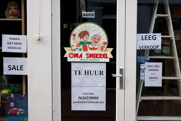 Nederland, Kampen, 14-1-2018In deze Hanzestad in Overijssel staat veel winkelruimte te huur.Foto: Flip Franssen
