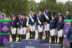 Team Germany, Klimke Ingrid, JUng Michael, Dibowski Andreas, Rüder Kai, Dr Adolphsen Jens, chef d'quipepod<br /> Team Great Britain, Townend Oliver, Cook Kristina, French Piggy, Funnell Pippa, Waygood Richard, chef d'equipe<br /> Team Sweden, Svennerstal Ludwig, Romeike Louise, Lindbäck Niklas, Jodefsson Malin, Bergendorff Frederik, chef d'aquipe <br /> European Championship Eventing<br /> Luhmuhlen 2019<br /> © Hippo Foto - Stefan Lafrentz<br /> 01/09/2019
