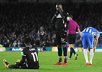 Football - 2017 / 2018 Premier League - Brighton & Hove Albion vs. Crystal Palace<br /> <br /> Christian Benteke and Wilfried Zaha of Palace after another chance goes wide, at The Amex.<br /> <br /> COLORSPORT/ANDREW COWIE