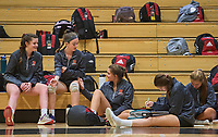 Nolensville High varsity Volleyball lost in straight matches to Ravenwood Wednesday night at NHS.<br /> Photo: Harrison McClary/News & Observer