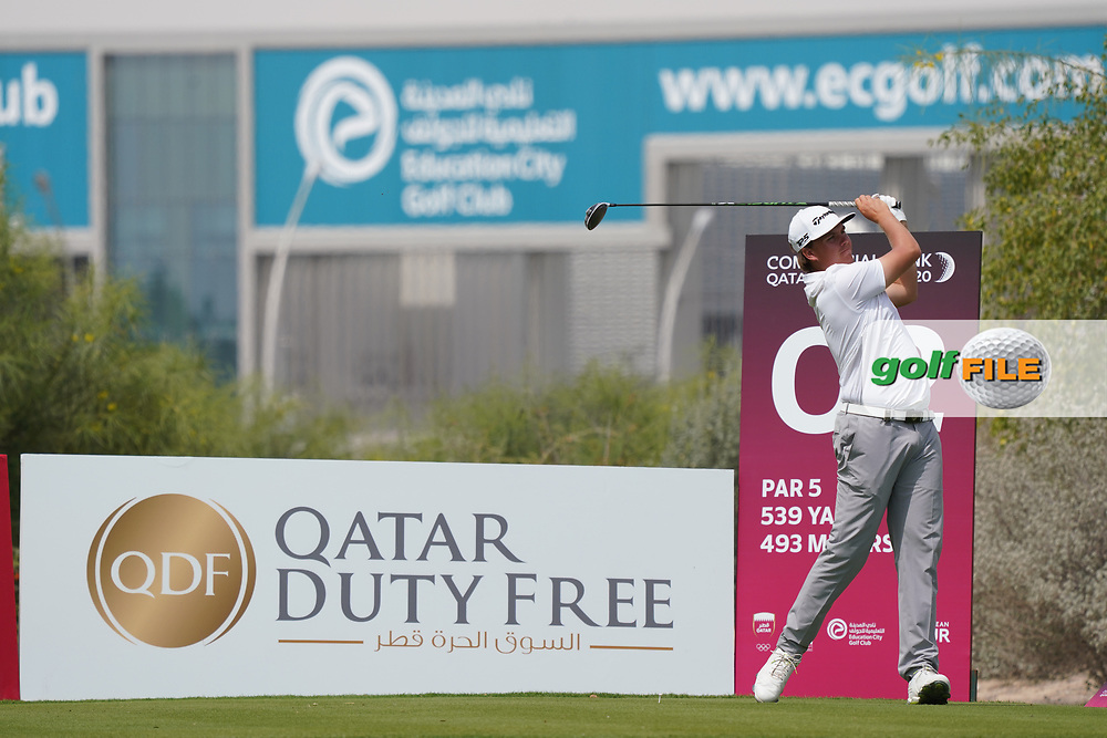 Sami Välimäri (FIN) during the final round of the Commercial Bank Qatar Masters 2020, Education City Golf Club , Doha, Qatar. 08/03/2020<br /> Picture: Golffile | Phil Inglis<br /> <br /> <br /> All photo usage must carry mandatory copyright credit (© Golffile | Phil Inglis)