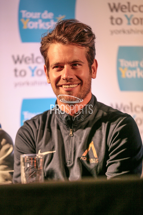 British champion Adam Blythe (Aqua Blue Sport) during the Tour de Yorkshire Press Conference at the National Railway Museum, York, United Kingdom on 27 April 2017. Photo by Mark P Doherty.