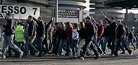 """Milano 11/11/07 Stadio """"Giuseppe Meazza"""" <br /> Campionato Italiano Serie A 2007/08 (Match Day 12)<br /> Inter-Lazio<br /> Partita sospesa per la morte dei un tifoso laziale in autogrill.<br /> I tifosi interisti fuori dallo stadio Meazza protestano contro il ministro Amato<br /> Photographer:Jennifer Lorenzini/INSIDE"""