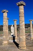 Statue of Emperor Trajan in the forum, Baelo Claudia Roman site, Cadiz Province, Spain