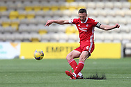 Aberdeen's Andrew Considine (4) dribbles the ball during the Scottish Premiership match between Livingston and Aberdeen at Tony Macaroni Arena, Livingstone, Scotland on 1 May 2021.