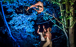 Artists perform in Hull's General Cemetery during a performances of internationally acclaimed production Depart, part of Hull UK City of Culture 2017.
