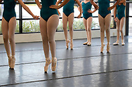 Students practice their dance moves during a class at the Russian Academy of Ballet in the Mills 50 district of Orlando, Fla., Friday, Oct. 14, 2016. (Phelan M. Ebenhack via AP)