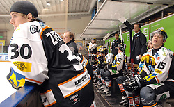05.12.2010, Eisstadion Liebenau, Graz, AUT, EBEL, Graz 99ers vs Fehervar, im Bild Feature, Coaching Area, Moser Medical Graz 99ers, EXPA Pictures © 2010, PhotoCredit: EXPA/ J. Hinterleitner