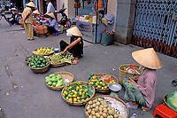 Vietnam. Delta du Mekong. Can Tho. Le marché. // Vietnam. Mekong Delta. Can Tho. The Market.