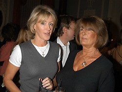 Left to right, LADY COSIMA SOMERSET and LADY ANNABEL GOLDSMITH at a party hosted by Tatler magazine to celebrate the publication of Lunar park by Bret Easton Ellis held at Home House, 20 Portman Square, London W1 on 5th October 2005.<br /><br />NON EXCLUSIVE - WORLD RIGHTS