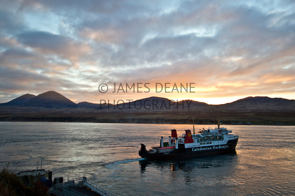 The Hebridean Isles deparing Port Askaig on The Sound of Islay
