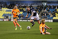 Paul McShane (captain) of Reading tackles Aiden O'Brien of Millwall during the EFL Sky Bet Championship match between Millwall and Reading at The Den, London, England on 26 September 2017. Photo by Toyin Oshodi.
