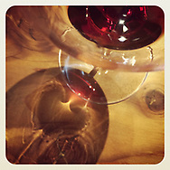 2019 JANUARY 26 - Wine in a tasting room near Seattle, WA, USA. Taken/edited with Instagram App for iPhone. By Richard Walker