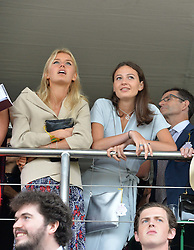 Left to right, SUSIE FLORY and ELEANOR LAMBERT at day 3 of the Qatar Glorious Goodwood Festival at Goodwood Racecourse, Chechester, West Sussex on 28th July 2016.