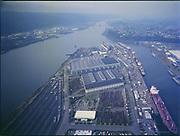"Ackroyd C04422-1. ""Port of Portland. Aerial Swan Island. wide-angle camera. November 7, 1977"""