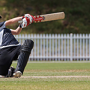 Katey Martin batting during the match between New Zealand and Pakistan in the Super 6 stage of the ICC Women's World Cup Cricket tournament at Drummoyne Oval, Sydney, Australia on March 19, 2009 New Zealand made 373 for 7. Photo Tim Clayton