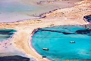 Balos beach in Crete island