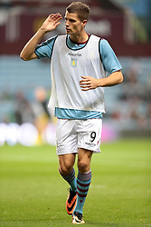 Aston Villa's Nicklas Helenius  - Photo mandatory by-line: Nigel Pitts-Drake/JMP - Tel: Mobile: 07966 386802 24/09/2013 - SPORT - FOOTBALL -  Villa Park - Birmingham - Aston Villa v Tottenham Hotspur - Round 3 - Capital One Cup