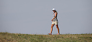 Pregnant wife of Carlos Del Moral (ESP)  walking the ridge down the 9th during Round One of the 2015 Alstom Open de France, played at Le Golf National, Saint-Quentin-En-Yvelines, Paris, France. /02/07/2015/. Picture: Golffile | David Lloyd<br /> <br /> All photos usage must carry mandatory copyright credit (© Golffile | David Lloyd)