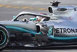 February 19, 2019 - Spain - Lewis Hamilton (Mercedes AMG Petronas Motosport) seen in action during the winter test days at the Circuit de Catalunya in Montmelo  (Credit Image: © Fernando Pidal/SOPA Images via ZUMA Wire)