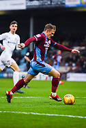 George Thomas of Scunthorpe United (18) in action during the EFL Sky Bet League 1 match between Scunthorpe United and Coventry City at Glanford Park, Scunthorpe, England on 5 January 2019.