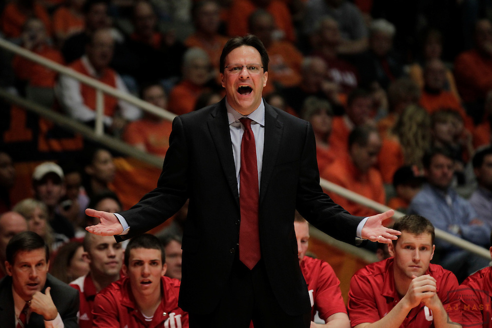 05 March 2011: Indiana head coach Tom Crean as the Indiana Hoosiers played the Illinois Illini in a college basketball game in Champaign, Ill.