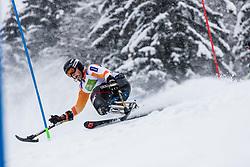 Kampschreur Jeroen of Nederland during Slalom race at 2019 World Para Alpine Skiing Championship, on January 23, 2019 in Kranjska Gora, Slovenia. Photo by Matic Ritonja / Sportida