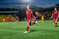 Aberdeen's James Wilson (9) celebrates after scoring their first goal. Livingston 1 v 2 Aberdeen, SPFL Ladbrokes Premiership played 29/1/2018 at Livingston home ground, Tony Macaroni Arena.