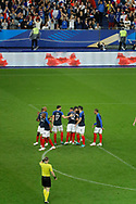 Nabil FEKIR (FRA) scored the second goal and celebrated it with Olivier GIROUD (FRA), Kylian MBAPPE (FRA), Blaise MATUIDI (FRA), Adil RAMI (FRA), Steven NZONZI (FRA), Benjamin MENDY (FRA)during the FIFA Friendly Game football match between France and Republic of Ireland on May 28, 2018 at Stade de France in Saint-Denis near Paris, France - Photo Stephane Allaman / ProSportsImages / DPPI