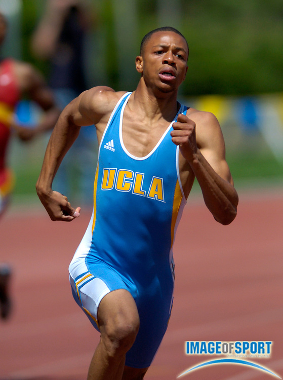 Craig Everhart of UCLA wins the men's 400 meters in 45.39 in the USC-UCLA track and field dual meet at Drake Stadium on Saturday, May 1, 2004 in Los Angeles.