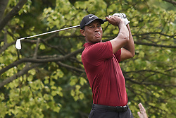 August 12, 2018 - Town And Country, Missouri, U.S - TIGER WOODS from Jupiter Florida, USA tees off on hole two during round four of the 100th PGA Championship on Sunday, August 12, 2018, held at Bellerive Country Club in Town and Country, MO (Photo credit Richard Ulreich / ZUMA Press) (Credit Image: © Richard Ulreich via ZUMA Wire)