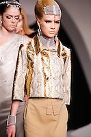 Elsa Sylvan walks the runway  at the Christian Dior Cruise Collection 2008 Fashion Show