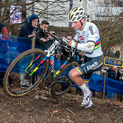 2020-01-05 Cycling: dvv verzekeringen trofee: Brussels: Mathieu van der Poel on his way to his 19th solowin of this season