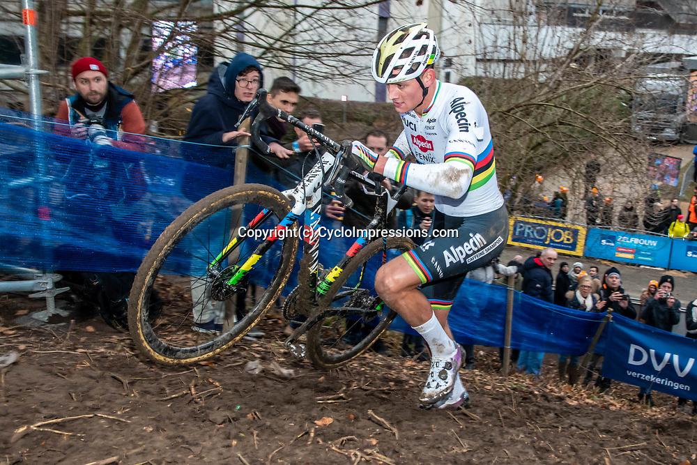 2020-01-05 Cycling: dvv verzekeringen trofee: Brussels: Mathieu van der Poel on his way to his 19th solowin of this season