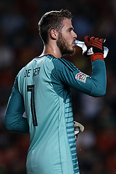 September 11, 2018 - Elche, Alicante, Spain - David De Gea of Spain drinks water during the UEFA Nations League A group four match between Spain and Croatia at Manuel Martinez Valero on September 11, 2018 in Elche, Spain  (Credit Image: © David Aliaga/NurPhoto/ZUMA Press)