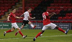 Sammie Szmodics of Peterborough United shoots at goal against Crewe Alexandra - Mandatory by-line: Joe Dent/JMP - 14/11/2020 - FOOTBALL - Alexandra Stadium - Crewe, England - Crewe Alexandra v Peterborough United - Sky Bet League One
